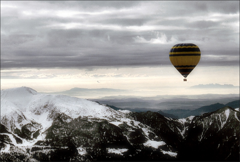 Ballooning over Catalonia