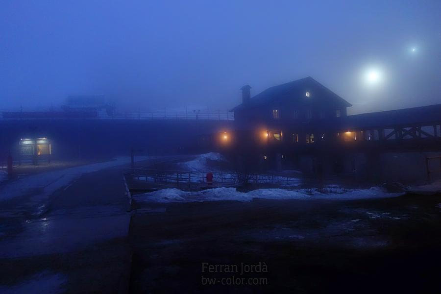 La nit a Vall de Núria