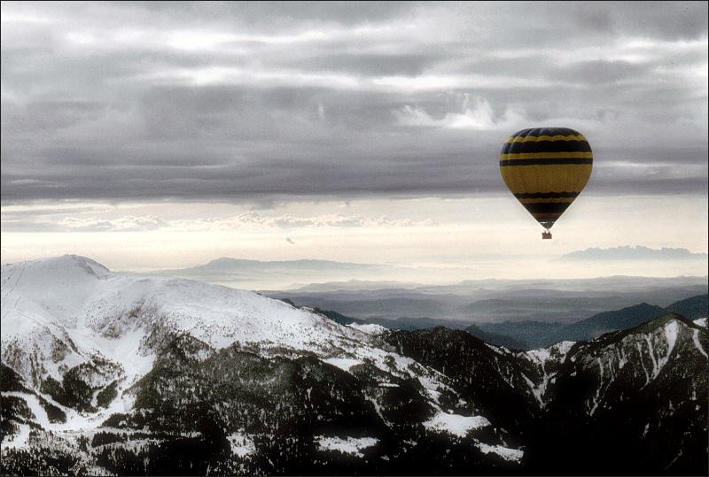 Ballooning over Catalonia
