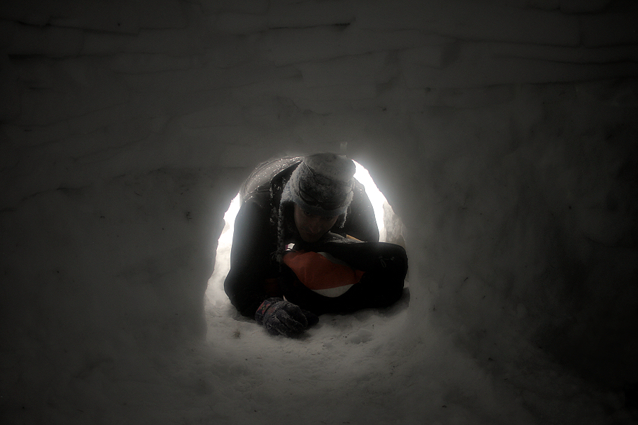 entrant a la caseta de neu