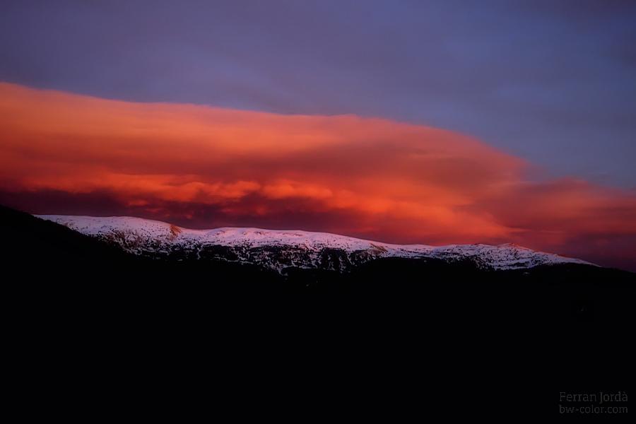 Serra de la Canya, capvespre.