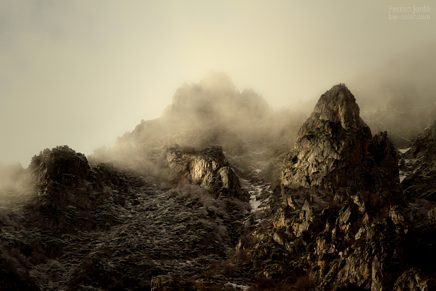 rocks, fog and light / roques, boira i llum